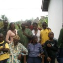 My Cameroonian family and I on my visit in January 2009