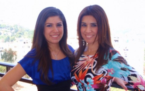 Amanda and her mom in Lebanon