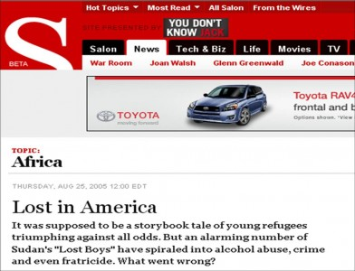 Lost in America story on salon.com [click on photo to go to  story]