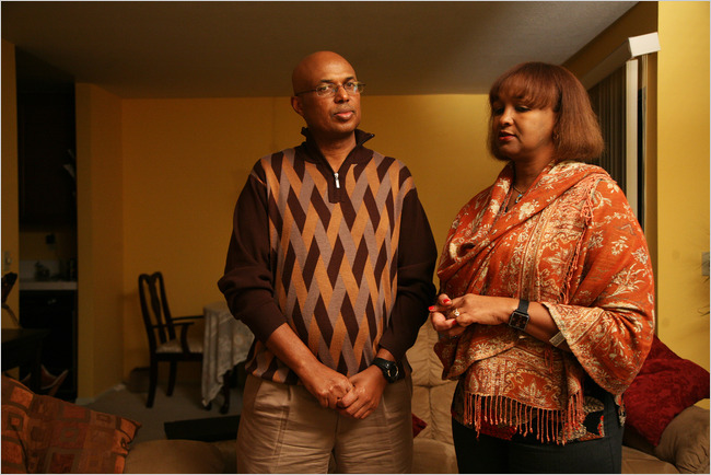 Omar Yousuf and Amina Jireh, two Somalian refugees profiled in Paddock's NYT article.