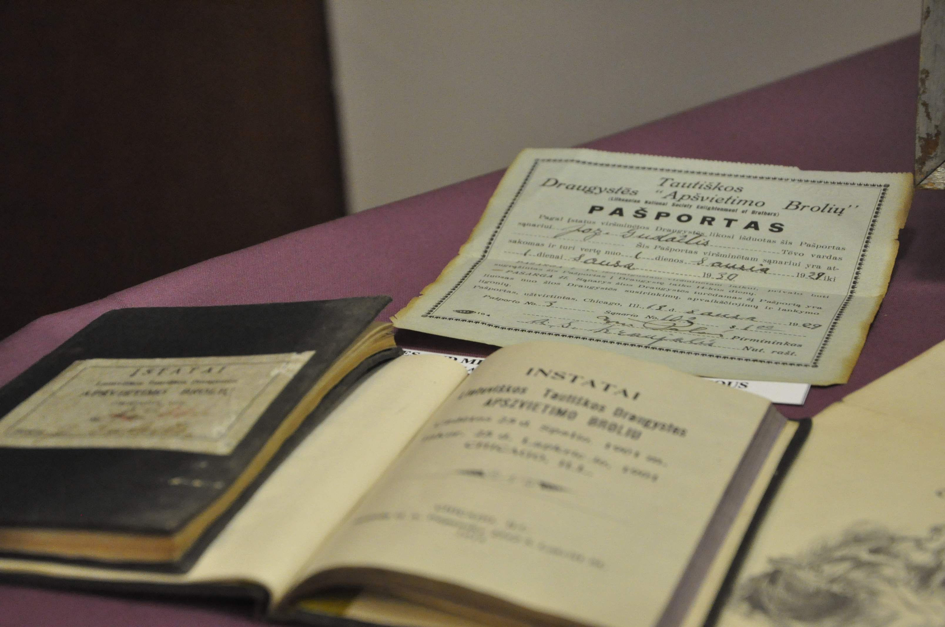 Archived Documents From Firstwave Lithuanian Immigrants That Are Currently  On Display At The Lithuanian Research And How To Get A Fast Passport
