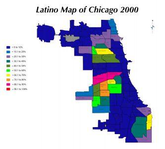 Zach-Latino Map of Chicago 2000